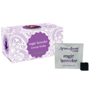 Aromafume Box of 18 Individually Wrapped Incense Bricks... MAGIC LAVENDER